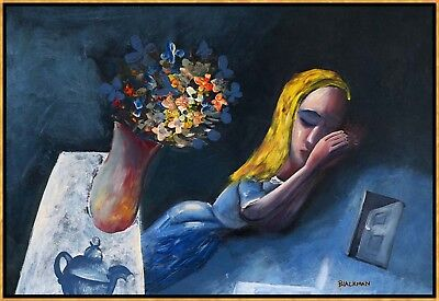 "CHARLES BLACKMAN ""Dreaming Alice"" Signed, Limited Edition on Canvas FRAMED"