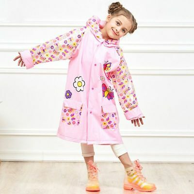 Safe Kids Raincoat Jacket Hoodie Cover Boys Girls Rian Weather Coat Raincoat AU