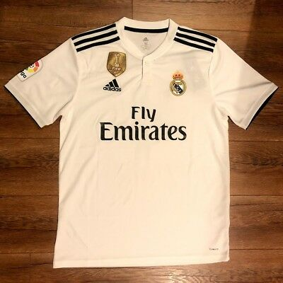 new style e540d 01714 REAL MADRID 18/19 Home Jersey Gareth Bale ‑ Adidas - La Liga SIZE MEDIUM  ONLY