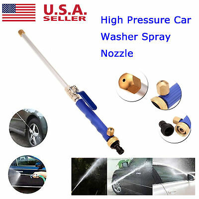 US High Pressure Power Water Washer Spray Gun Wand Attachment Jet/Fan Nozzle Tip