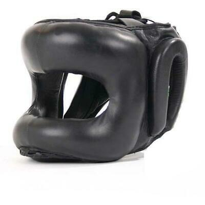 Mani Padded Full Face Metal Frame Leather Head & Nose Guard Gear [S/M/L]