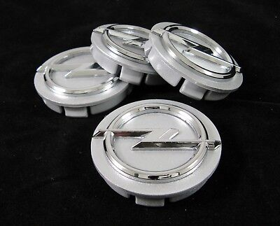 4 Pieces Set 3D Center Hub Caps 60/56 mm. For OPEL Alloy Wheel Rims Silver New