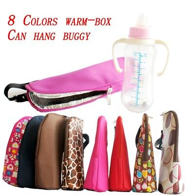Milk Bottle Insulation Bag Cup Hang Warm Thermal Tote Baby Cover Mummy Pouch UK