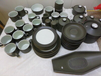 VINTAGE DENBY CHEVRON - GREEN - please choose your items from drop down menu