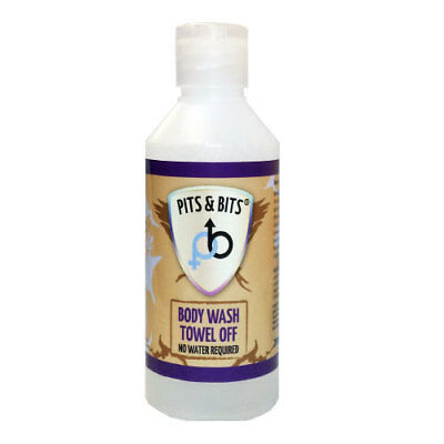 Body Wash - No Water Required or Rinsing Towel Off Dry - 200ml - Pits And Bits
