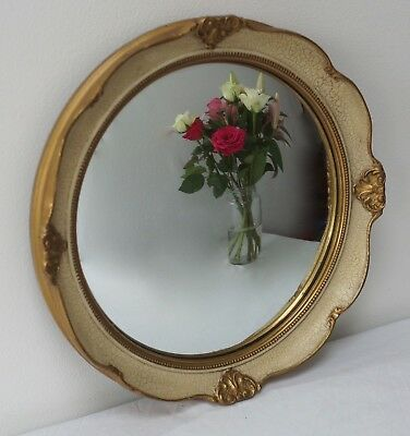 Mirror Circular Convex Gilt Antique Vintage
