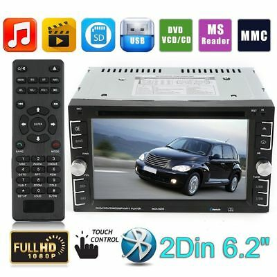 HD 6.2 Inch 2DIN DVD Player CD Bluetooth Stereo Monitor Autoradio mit USB SD MP3
