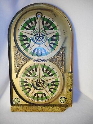 Vintage Lindstrom's Gold Star Bagatelle Marble Game Army Fatigue Color Game