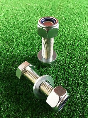 PAIR Tow Bar / Tow Ball Bolt 55mm Long C/w Nyloc Nut  & Washer 8.8 HIGH TENSILE