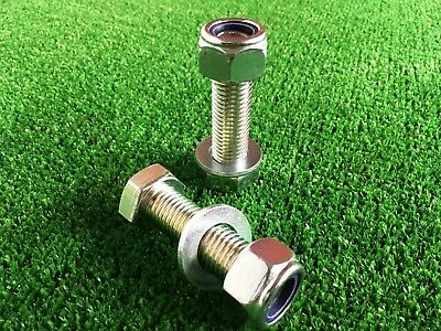 PAIR Tow Bar / Tow Ball Bolt 65mm Long C/w Nyloc Nut  & Washer 8.8 HIGH TENSILE