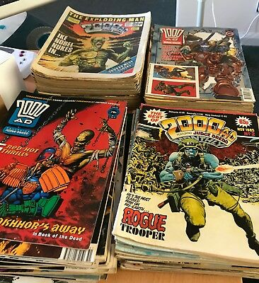 Large collection of 149 x 2000AD comics 80s and 90s