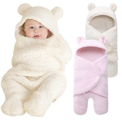 Newborn Baby Girls Boys Sleeping Bag Sleepsack Swaddle Wrap Stroller Bed Blanket