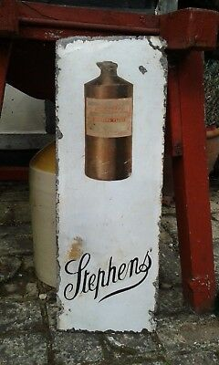 A Nice Early Original Stephens Ink Enamel Sign.