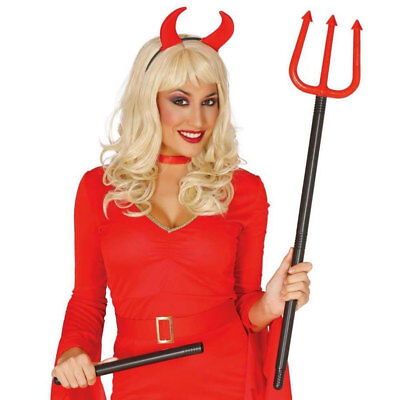 Red Devil Fork Trident 100cm Long Detachable Halloween Fancy Dress Accessory