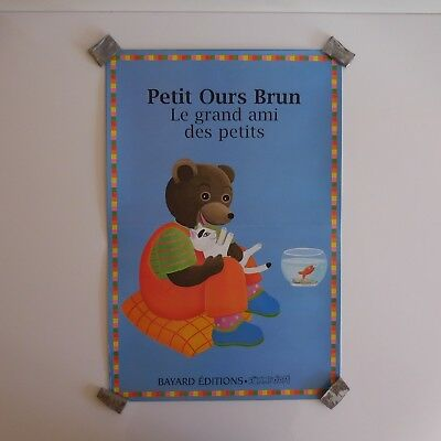 5 affiches Petit ours brun grand ami des petits BAYARD EDITIONS PN France N2263
