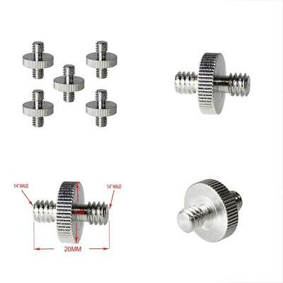 Foto&Tech 5 Pieces 1 4 Male To 1 4 Male Threaded Screw Adapter Camera Cage Shoul