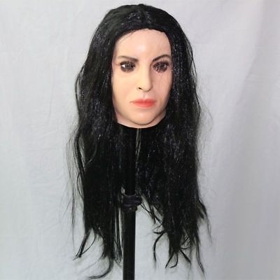 Halloween Party Realistic Female Sexy Noble Latex Mask For Men And Women