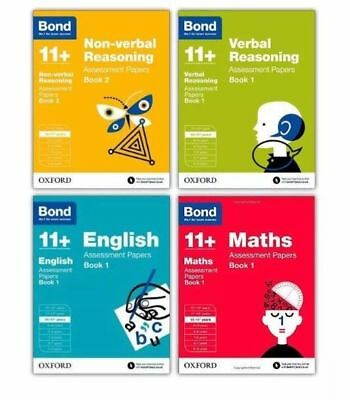 Bond 11+ Assessment Papers 4 Books Set 10-11+: English Maths Verbal & Non-verbal