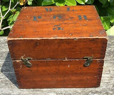 Old Vintage Antique Wooden Scientific Instrument Keepsake Storage Box W.L.P.O.B5