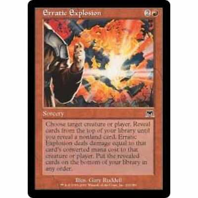 Red Onslaught Mtg Magic Common 1x x1 1 FOIL Erratic Explosion