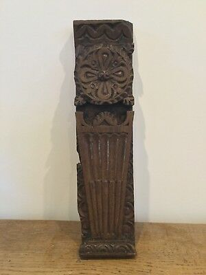 Oak carved  fragment panel 16th c 17th c  18th c  century
