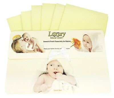 Baby Scented Luxury Drawer Liners Ideal babies Shower Gift 120gsm