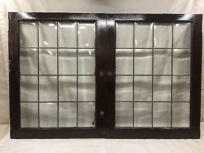 Antique Leaded Beveled Glass Cabinet Doors lot of 6