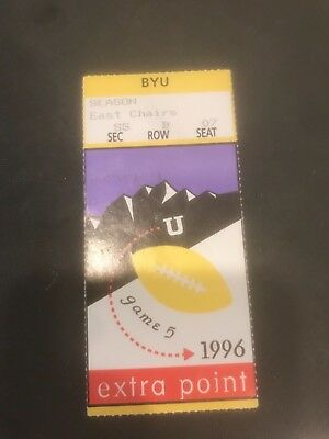 Ncaa- Byu Cougars Vs. Utah Utes @Utah- Football Rivalry Stub- Nov.1996