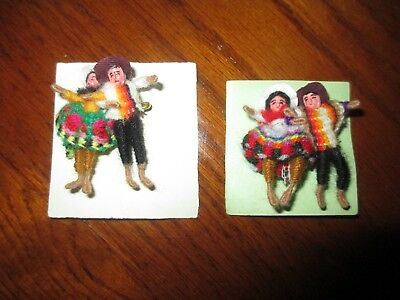lot of (4) String People Figurines!  Bendable, intricate design! Latino Mexican?