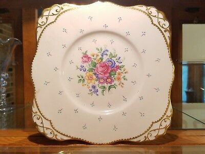 """Tuscan Fine China 8.5"""" Pink Square Plate"""