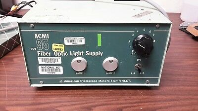 American Optic ACMI FCB 95 Fiber Optic Dual Light Source Good Shape