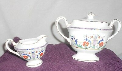 rare vintage Shelley Tea set sugar bowl and lid and cream jug gainsborough 11303