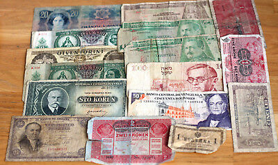Lot Banknoten--Welt--VERY USED--