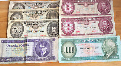 Lot Forint, Bank of Hungary, 1969.--89. --USED--