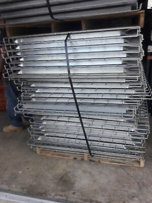 Used pallet rack deck 32x46 inside waterfall wire shelving grid