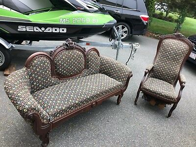 Antique Victorian Couch and Chair