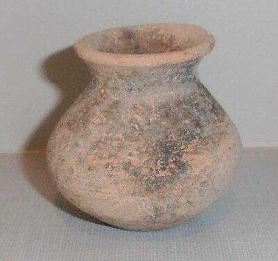 "Antique Byzantine 2"" Seed pot with COA Israel Holy Land Relic"