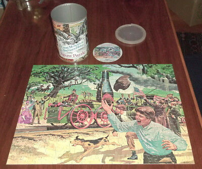 Vintage Advertising HUMBLE OIL JIGSAW PUZZLE IN CAN 300 piece RAILROAD HISTORY