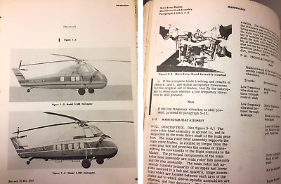 Sikorsky Helicopter S58 Maintenance Manual I, II, III, IV +Parts Aviation Repair