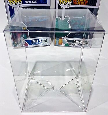 "10 VERY HEAVY DUTY 4"" FUNKO POP! Box Protectors .50mm Thick Plastic Cases  New"