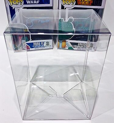 "5 VERY HEAVY DUTY 4"" FUNKO POP! Box Protectors .50mm Thick Plastic Display Case"