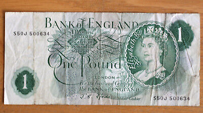 1 Pound, Bank of England, 1960.-78.