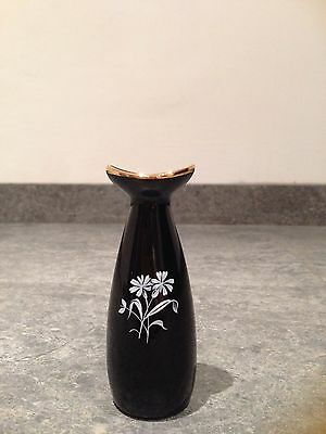 Wade Miniature Black Bud Vase Five Inches Tall