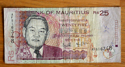 25 Rupees, Bank of Mauritius, 1998.
