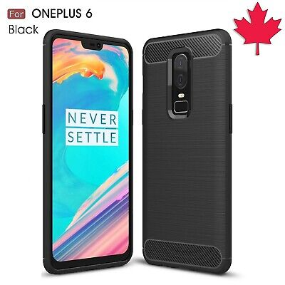 For OnePlus 6 Case - Shockproof Carbon Fiber Soft TPU Hybrid Cover