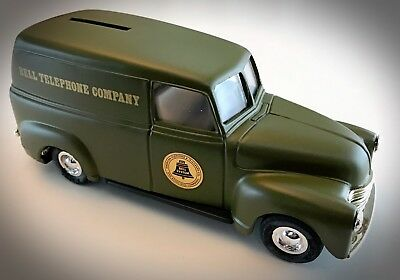 Rare Ertl Bell Telephone At&t Co. 1950 Chevy Delivery Van Bank - 1:25