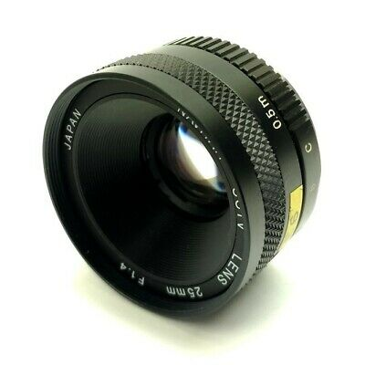 "Navitar Machine Vision Camera Lens, ½"" 25mm Focal Length F1.4 C-Mount *Debris*"