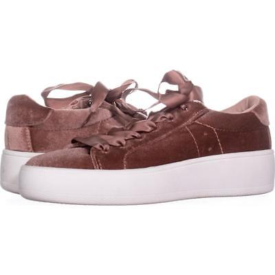 1fc1db163e9 STEVE MADDEN BERTIE Platform Lace Up Sneakers 776, Blush, 6 US