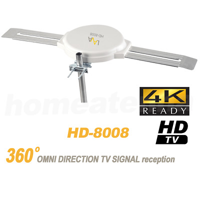 Lava Hd-8008 Omnipro Omni-Directional Five Star 200 Miles Outdoor 4K Antenna