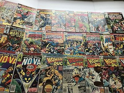 Bronze Age # 1 Lot of 32 Marvel Howard the Duck Omega the Unknown Nova Inhumans